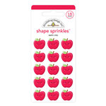 Doodlebug Design - School Days - Sprinkles - Self Adhesive Enamel Shapes - Apple A Day