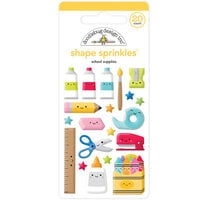 Doodlebug Design - School Days - Sprinkles - Self Adhesive Enamel Shapes - School Supplies