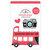 Doodlebug Design - I Heart Travel - Doodle-Pops - 3 Dimensional Cardstock Stickers - Double Decker
