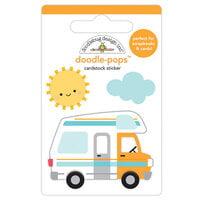 Doodlebug Design - I Heart Travel - Doodle-Pops - 3 Dimensional Cardstock Stickers - Road Trip