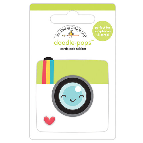 Doodlebug Design - I Heart Travel - Doodle-Pops - 3 Dimensional Cardstock Stickers - Picture Perfect