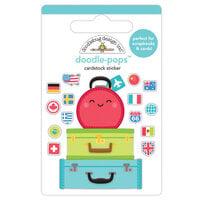 Doodlebug Design - I Heart Travel - Doodle-Pops - 3 Dimensional Cardstock Stickers - Pack Your Bags