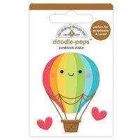 Doodlebug Design - I Heart Travel - Doodle-Pops - 3 Dimensional Cardstock Stickers - Up, Up & Away