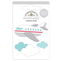 Doodlebug Design - I Heart Travel - Doodle-Pops - 3 Dimensional Cardstock Stickers - Jet Set
