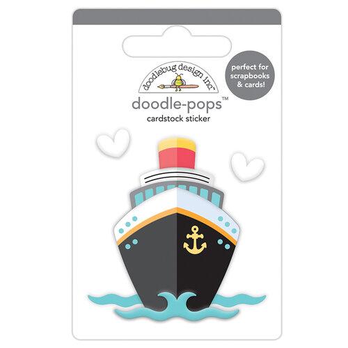 Doodlebug Design - I Heart Travel - Doodle-Pops - 3 Dimensional Cardstock Stickers - Bon Voyage