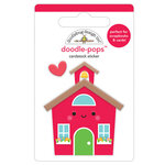 Doodlebug Design - School Days - Doodle-Pops - 3 Dimensional Cardstock Stickers - School House