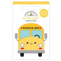 Doodlebug Design - School Days - Doodle-Pops - 3 Dimensional Cardstock Stickers - School Bus