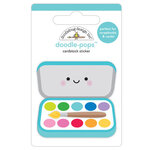 Doodlebug Design - School Days - Doodle-Pops - 3 Dimensional Cardstock Stickers - Paint Box