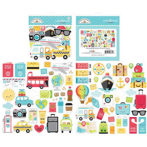 Doodlebug Design - I Heart Travel - Odds & Ends - Die Cut Cardstock Pieces