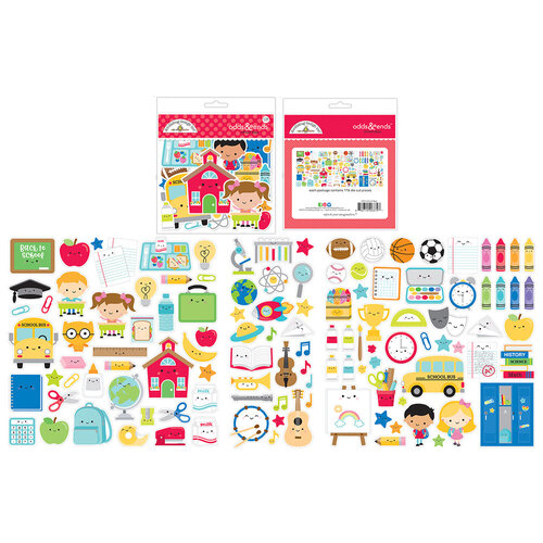 Doodlebug Design - School Days - Odds & Ends - Die Cut Cardstock Pieces