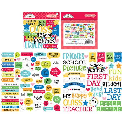 Doodlebug Design - School Days - Chit Chat - Die Cut Cardstock Pieces