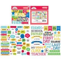 Doodlebug Design - School Days - Chit Chat - Die Cut Cardstock Pieces