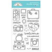 Doodlebug Design - I Heart Travel - Clear Photopolymer Stamps