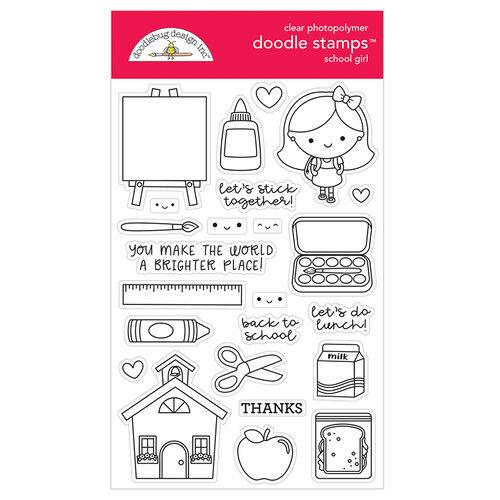 Doodlebug Design - School Days - Clear Photopolymer Stamps - School Girl