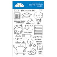 Doodlebug Design - School Days - Clear Photopolymer Stamps - School Boy