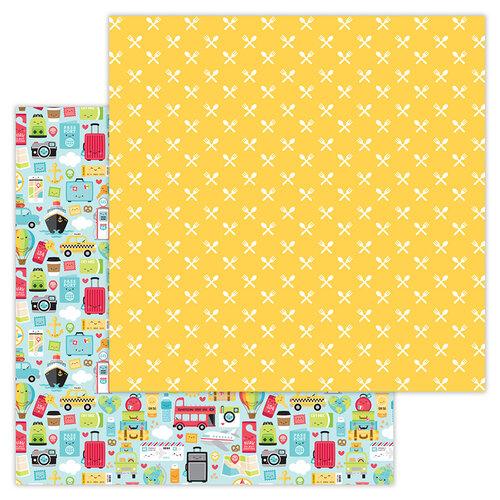 Doodlebug Design - I Heart Travel - 12 x 12 Double Sided Paper - I Heart Travel
