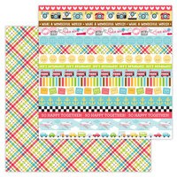 Doodlebug Design - I Heart Travel - 12 x 12 Double Sided Paper - Plaid To Be Here