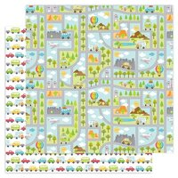 Doodlebug Design - I Heart Travel - 12 x 12 Double Sided Paper - Going Places