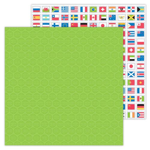 Doodlebug Design - I Heart Travel - 12 x 12 Double Sided Paper - World Traveler