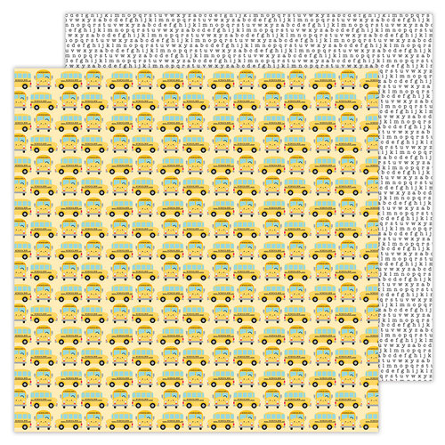 Doodlebug Design - School Days - 12 x 12 Double Sided Paper - Field Trip