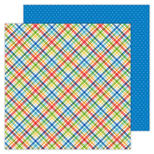 Doodlebug Design - School Days - 12 x 12 Double Sided Paper - Playground Plaid