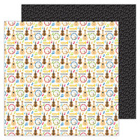 Doodlebug Design - School Days - 12 x 12 Double Sided Paper - Band Class
