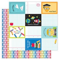 Doodlebug Design - School Days - 12 x 12 Double Sided Paper - Color Me Happy