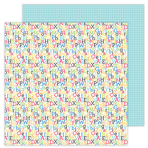 Doodlebug Design - School Days - 12 x 12 Double Sided Paper - Spelling Bee
