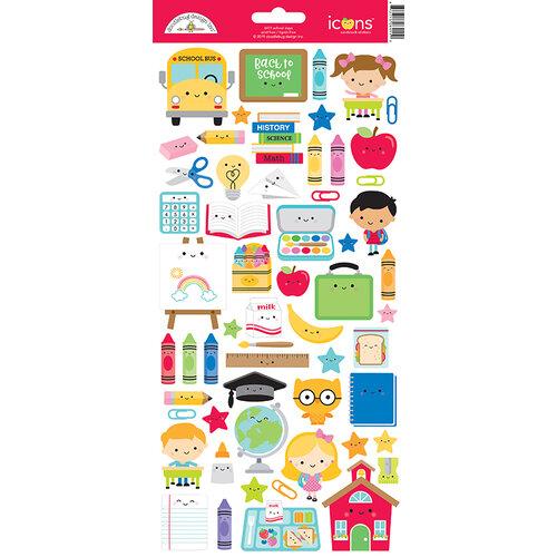 Doodlebug Design - School Days - Cardstock Stickers - Icons