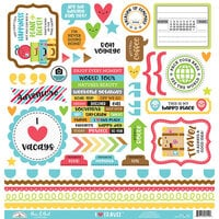 Doodlebug Design - I Heart Travel - 12 x 12 Cardstock Stickers - This and That