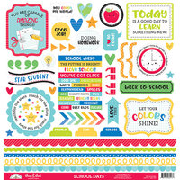 Doodlebug Design - School Days - 12 x 12 Cardstock Stickers - This & That