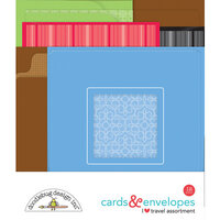 Doodlebug Design - I Heart Travel - Cards and Envelopes
