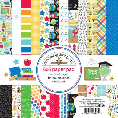 Doodlebug Design - School Days - 6 x 6 Paper Pad