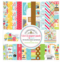Doodlebug Design - I Heart Travel - 12 x 12 Paper Pack