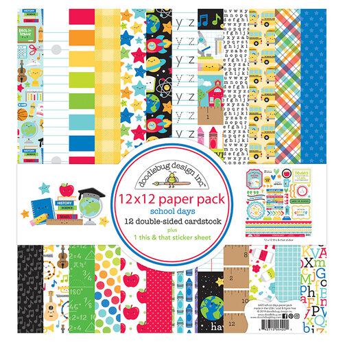 Doodlebug Design - School Days - 12 x 12 Paper Pack