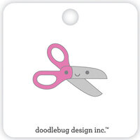 Doodlebug Design - School Days - Collectible Pins - Pink Scissors
