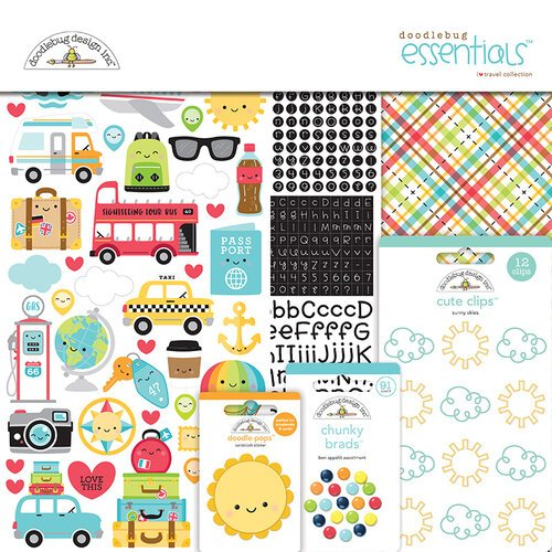 Doodlebug Design - I Heart Travel - Essentials Kit