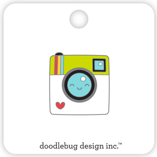 Doodlebug Design - I Heart Travel - Collectible Pins - Say Cheese
