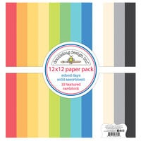 Doodlebug Design - School Days - 12 x 12 Textured Cardstock Assortment Paper Pack