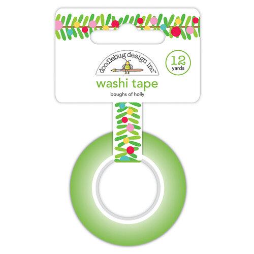 Doodlebug Design - Christmas Magic Collection - Washi Tape - Boughs Of Holly