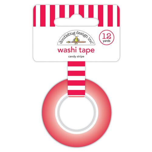 Doodlebug Design - Christmas Magic Collection - Washi Tape - Candy Stripe