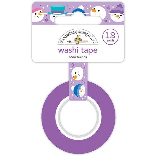 Doodlebug Design - Winter Wonderland Collection - Washi Tape - Snow Friends