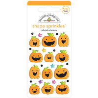 Doodlebug Design - Halloween - Candy Carnival Collection - Sprinkles - Self Adhesive Enamel Shapes - Jolly Jack-O-Lanterns