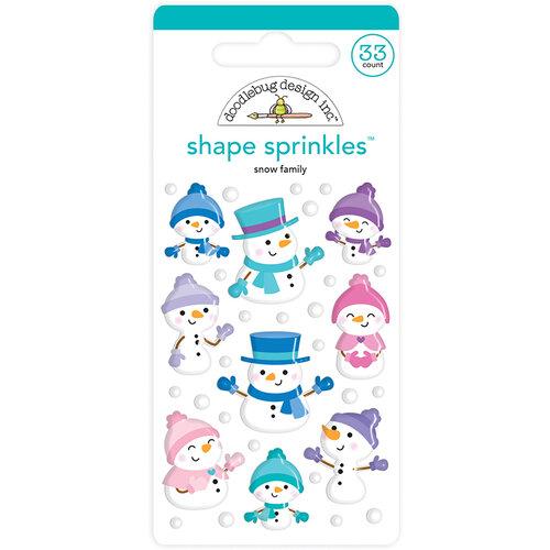 Doodlebug Design - Winter Wonderland Collection - Sprinkles - Self Adhesive Enamel Shapes - Snow Family