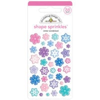 Doodlebug Design - Winter Wonderland Collection - Sprinkles - Self Adhesive Enamel Shapes - Winter Wonderland