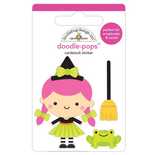 Doodlebug Design - Halloween - Candy Carnival Collection - Doodle-Pops - 3 Dimensional Cardstock Stickers - Hazel