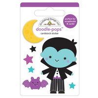Doodlebug Design - Halloween - Candy Carnival Collection - Doodle-Pops - 3 Dimensional Cardstock Stickers - Edward