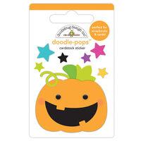 Doodlebug Design - Halloween - Candy Carnival Collection - Doodle-Pops - 3 Dimensional Cardstock Stickers - Jack