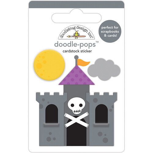 Doodlebug Design - Halloween - Candy Carnival Collection - Doodle-Pops - 3 Dimensional Cardstock Stickers - Dracula's Castle
