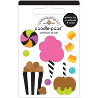 Doodlebug Design - Candy Carnival Collection - Doodle-Pops - 3 Dimensional Cardstock Stickers - Candy Carnival